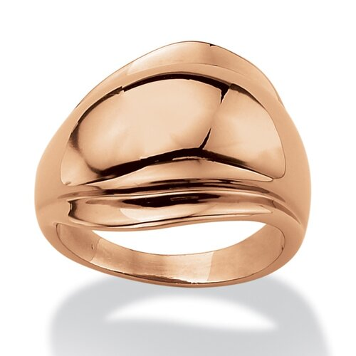 Rose Gold-Plated Freeform Ring
