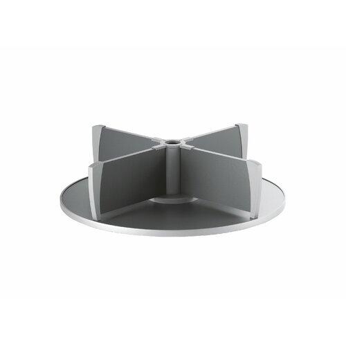 """Bindertek Dealer Solutions Deluxe 14"""" H x 32"""" W 1-Tier Rotary Desk Binder Storage Extension"""