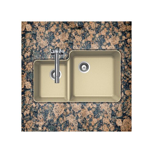 """Schock Houzer Cristalite 33"""" x 20.75"""" Solido Series Undermount 70/30 Double Bowl Kitchen Sink"""