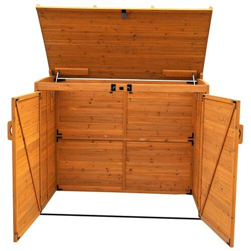 "Leisure Season Horizontal Refuge 5'6"" W x 3'2"" D Wood Storage Shed"