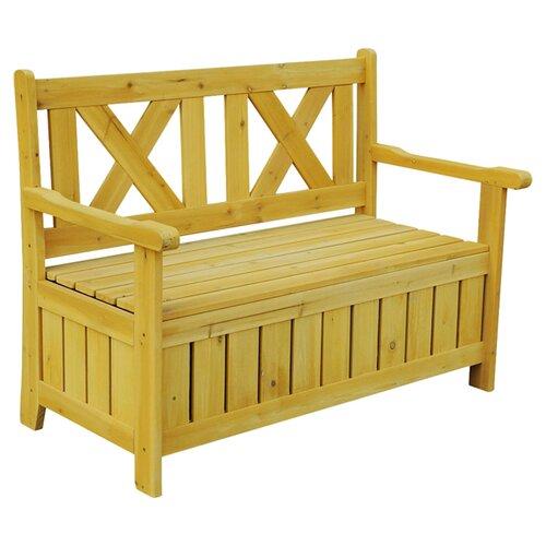 leisure season solid wood storage bench reviews wayfair