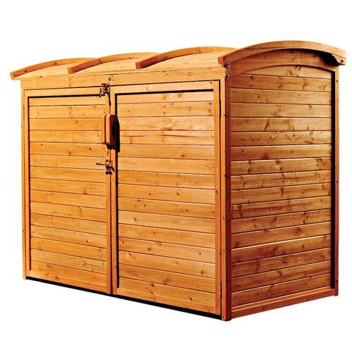 "Leisure Season 5'2"" W x 2'10"" D Refuse Wood Storage Shed"