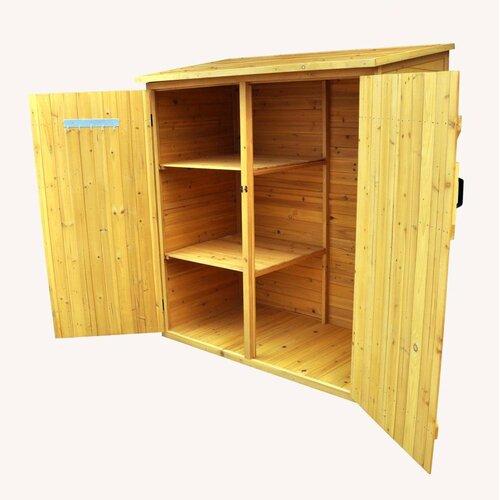 "Leisure Season 5' x 2'6"" Wood Lean-To Storage Shed"