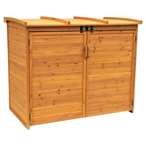 Leisure Season Horizontal Refuge 5.5 Ft. W x 3 Ft. D Wood Storage Shed