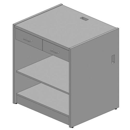 Paragon Furniture Circulation 2 Drawer Desk with Shelf Unit
