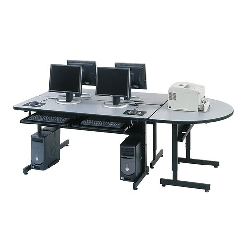 Paragon Furniture Space Saving 2 Student Computer Table