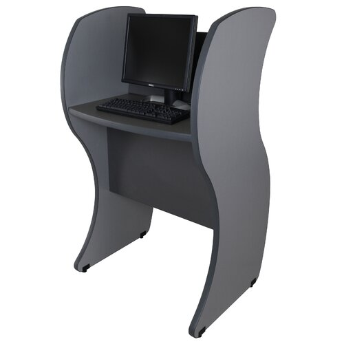 Paragon Furniture Kiosk Wave Panels Computer Table