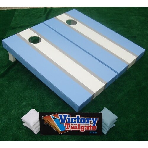 Matching Striped Cornhole Bean Bag Toss Game