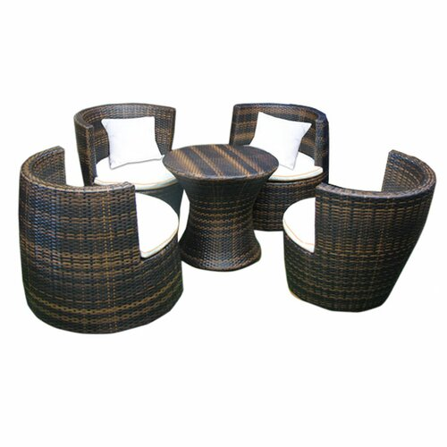 Deeco Geo-Vase Stacking 6 Piece Lounge Seating Group with Cushions