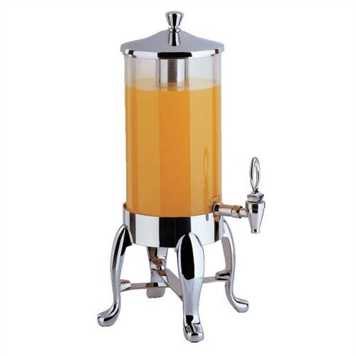 Buffet Enhancements 2 Gallon Deluxe Juice Dispenser with Chrome Legs