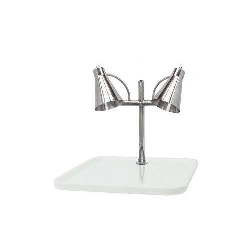Buffet Enhancements Flex Dual Stainless Steel Lamp Rectangular Carving Station