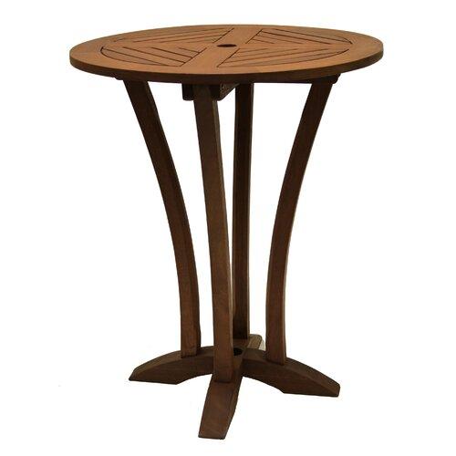 outdoor interiors eucalyptus bar table reviews