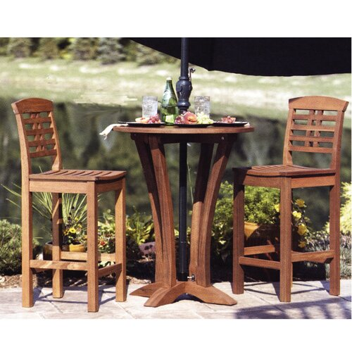 Eucalyptus Round Bar Table