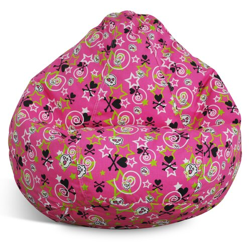 Elite Products Print and Plush Bean Bag Lounger