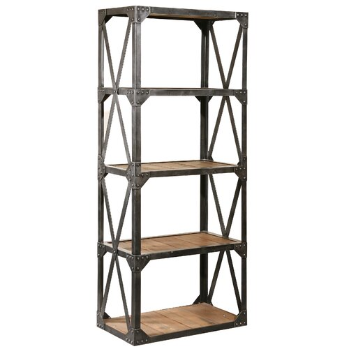 "Furniture Classics LTD Bleeker Recycled Narrow 79"" Bookcase"