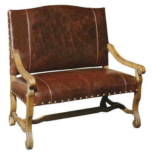Foyer Leather Bench : Leather entryway bench wayfair