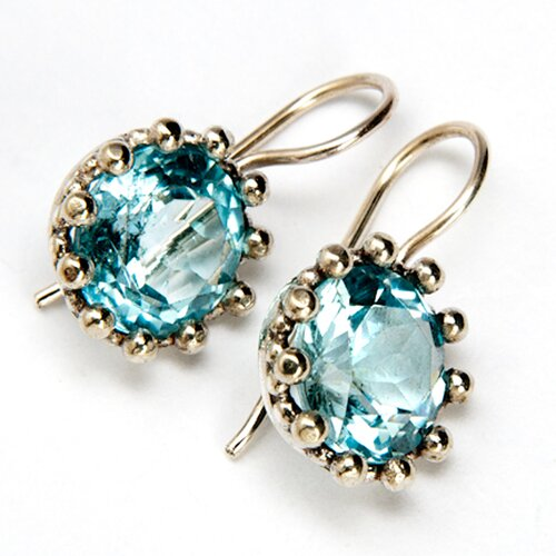 Sitara Jewelry Blue Topaz Sterling Silver Earrings
