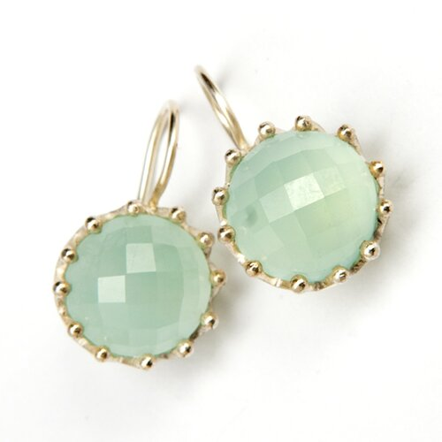 Aquamarine Light Blue Sterling Silver Gemstone Earrings