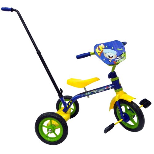 Kid Meteor Space Chase Tricycle with Push Handle