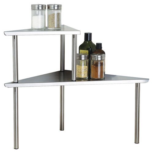 Cook N Home Stainless Steel Triangle Corner Storage Shelf