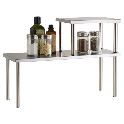 Cook N Home Stainless Steel Square Corner Storage Shelf