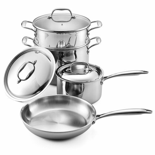 Multi-Ply Clad Stainless Steel 7-Piece Cookware Set
