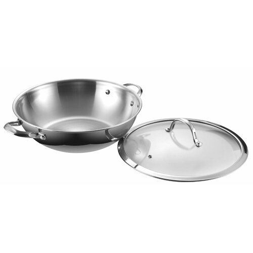 Cooks Standard Chef's Paella Pan with Lid