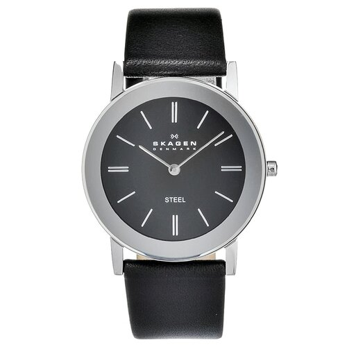 Leather Unisex's Crystal Watch