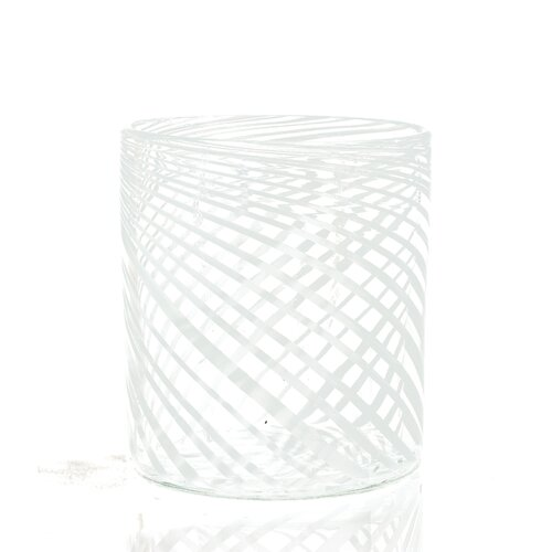 C & F Enterprises Swirl Glass Container