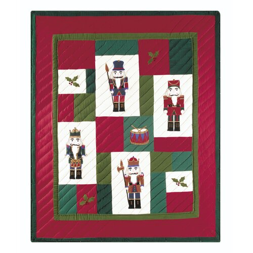 Nutcracker Quilted Cotton / Poly fill Throw