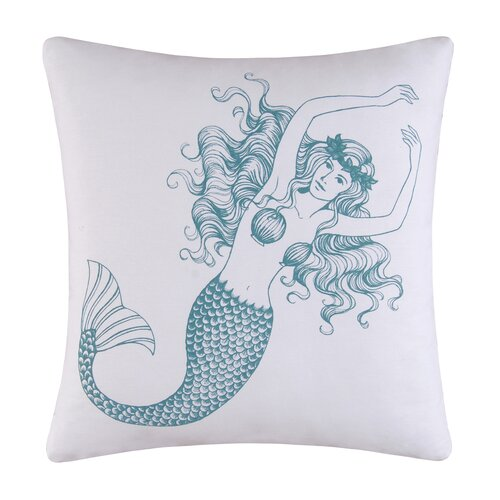 C & F Enterprises Cora Mermaid Cotton Accent Pillow