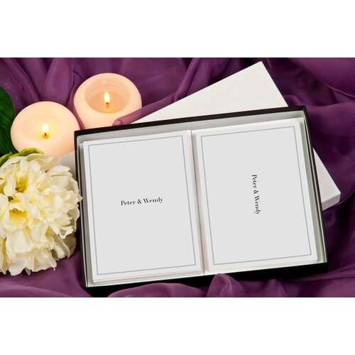 Signature Gifts Simplicity Personalized Stationery Card Set