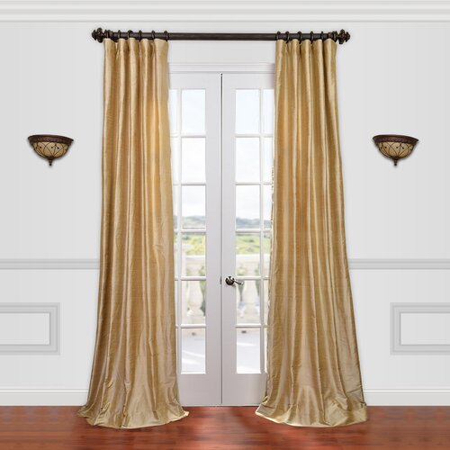 half price drapes textured dupioni silk single curtain