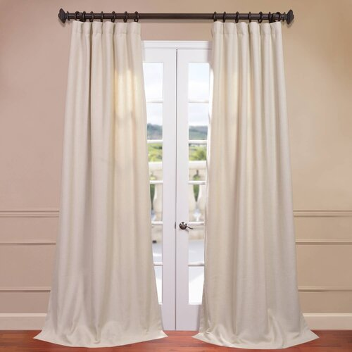 Half Price Drapes Heavy Faux Linen Curtain Single Panel