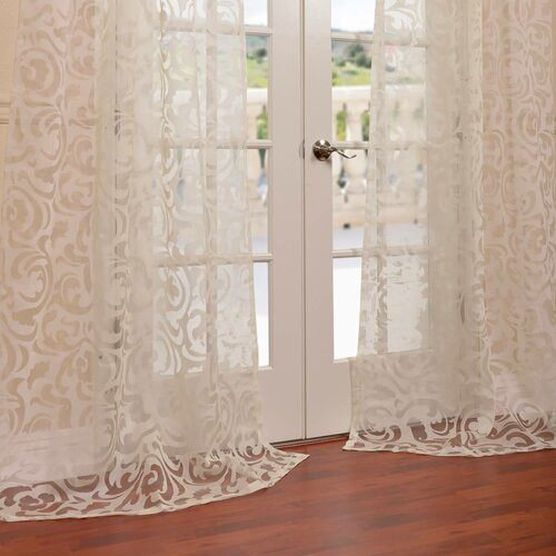 Curtains drapes wayfair for Patterned sheer curtain panels