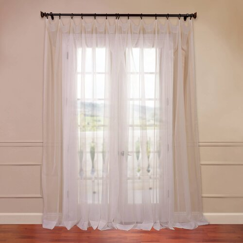 Half Price Drapes Doublewide Solid Voile Sheer Curtain Single Panel