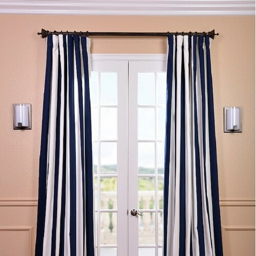 Half price drapes isles printed cotton rod pocket single curtain panel