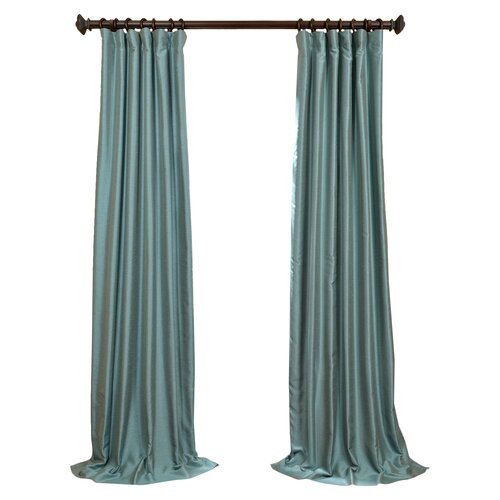 half price drapes yarn dyed faux dupioni silk curtain