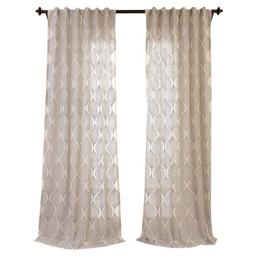 half price drapes dreamweaver embroidered faux linen sheer