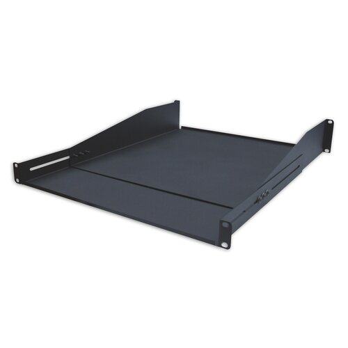 """Quest Manufacturing 18-31""""D Double-Sided Non-Vented Adjustable Shelf - 2 RU"""