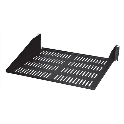 "Quest Manufacturing 10.5""-18""D Single-Sided Vented Shelf - 2 RU"