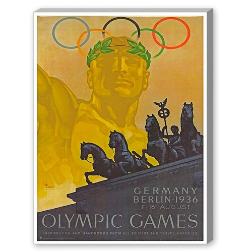 Olympic Games Vintage Advertisement on Canvas