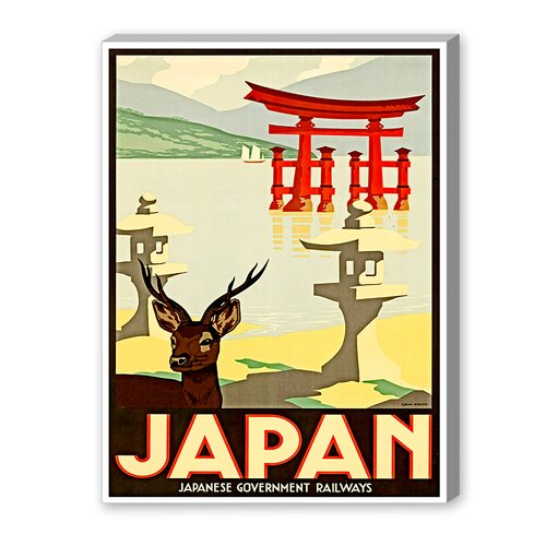 Japan Graphic Art on Canvas