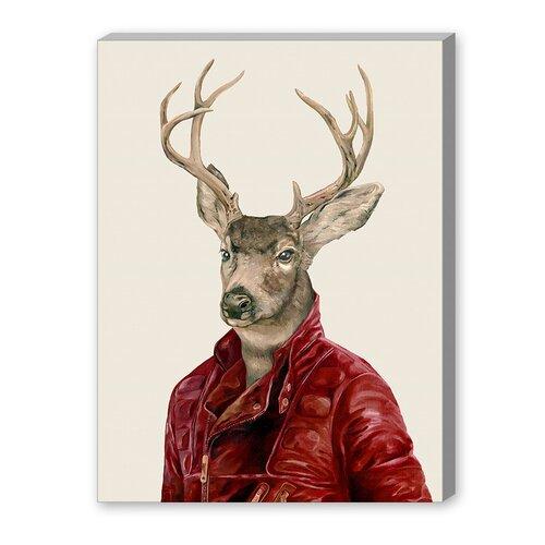 Deer Graphic Art on Canvas