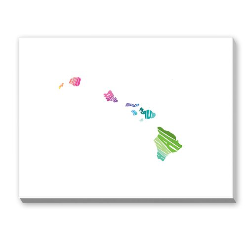 Hawaii Spring Textual Art on Canvas