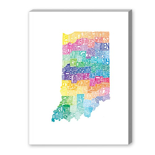 Indiana Spring Textual Art on Canvas