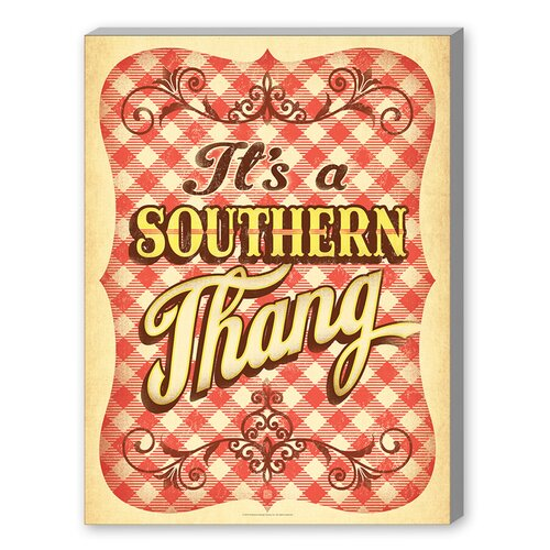 Southern Thang Graphic Art on Canvas