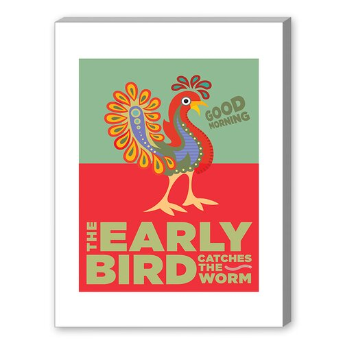 The Early Bird Graphic Art on Canvas