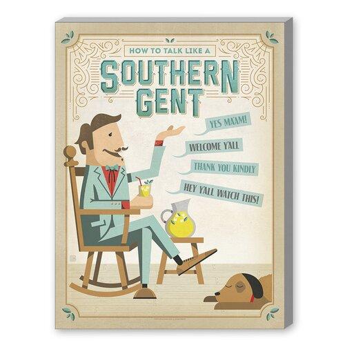 Talk Southern Gent Vintage Advertisement on Canvas