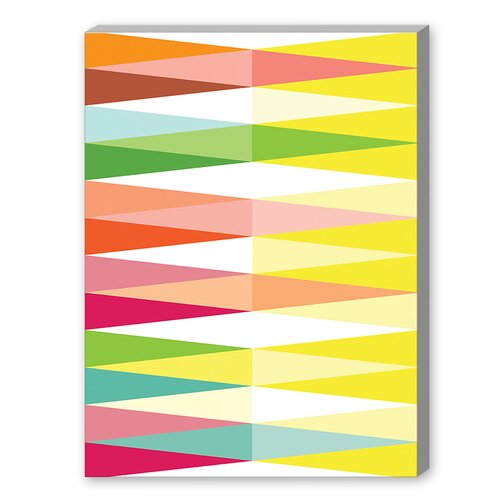 Spring Geometric Triangle Graphic Art on Canvas